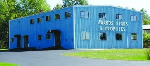 photo of awards signs & trophies building