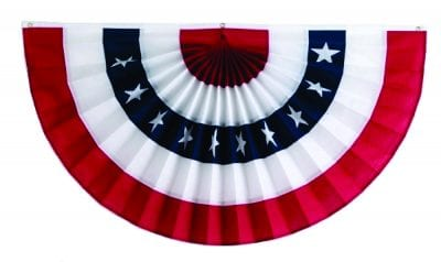 red white and blue bunting flag