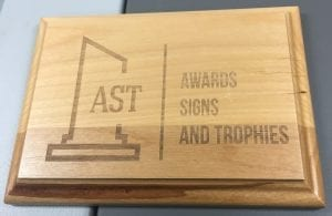 awards signs and trophies wooden plaque
