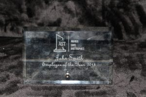 Glass Unique designs for Corporate and Employee Recognition