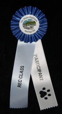 custom sled dog club participant ribbon
