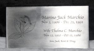 custom memorial plaque