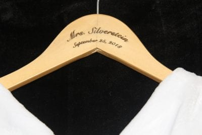 custom engraved wedding clothes hanger