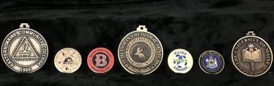 seven custom medallions