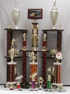 Various Trophies of all sizes and shapes
